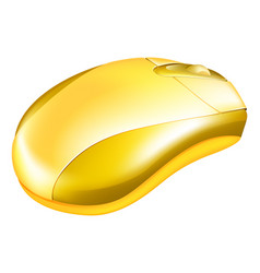 Golden computer mouse vector