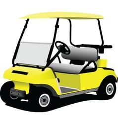 Golfer cart vector