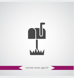 mail box icon simple vector image vector image