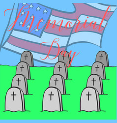 Memorial day colorful hand draw vector