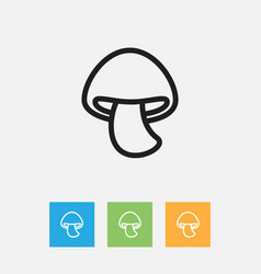 Of cooking symbol on mushroom vector