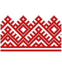Ornament embroidered good like handmade cross vector