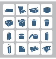 Packaging Icons Set vector image vector image