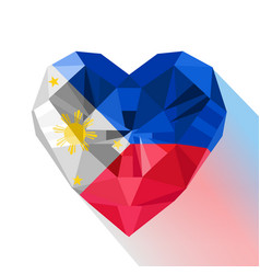 Polygonal logo symbol of love philippines vector