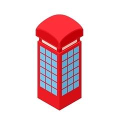 Red telephone box icon cartoon style vector