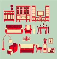Retro Home interior vector image vector image
