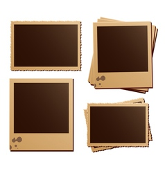 Retro photo frame isolated set vector image vector image