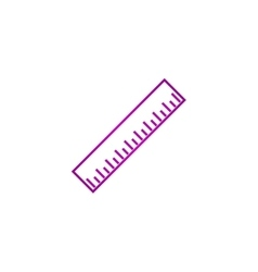 Ruler Icon Flat design style EPS vector image vector image