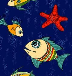 seamless fish vector image