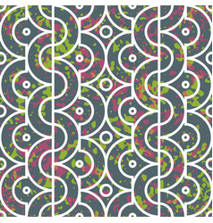 Seamless geometric pattern with half circles vector