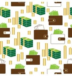 Seamless money pattern on white background vector