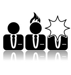 Stress icon vector