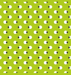 Tile pattern with black and white dots on green vector