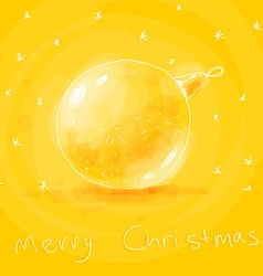 Yellow Christmas Background Sketch vector image vector image