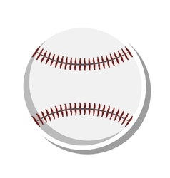 Baseball ball sport isolated icon vector