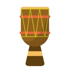 brasilian drum percussion bongo vector image