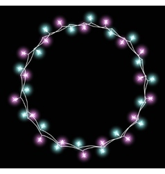 Glowing garland with small lamps garlands vector