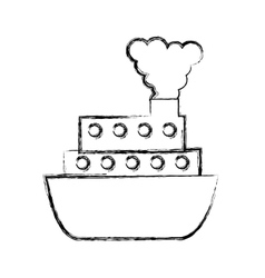 Ship cruise isolated icon vector