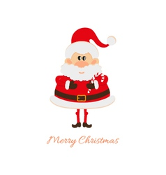 Santa claus with christmas caramel cane vector