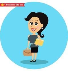 Smart office girl vector image