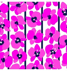 Magenta orchids seamless vector