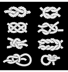 Rope Knots Icons vector image