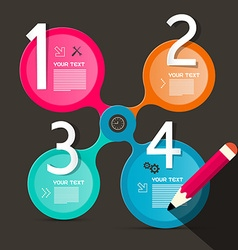 Four steps circle infographic layout vector