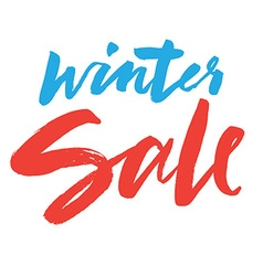 Clearance hand lettering winter sale vector