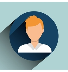 Young people profile vector