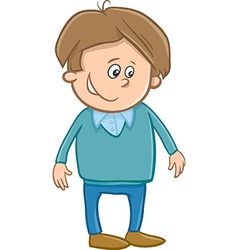 Cute boy character cartoon vector