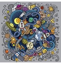 Cartoon hand-drawn doodles Space vector image