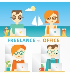 About freelancers working on the vector