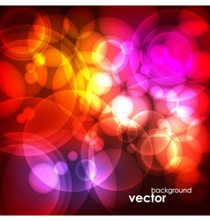 Abstract bubble glow background vector
