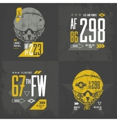 Air force old grunge effect vector