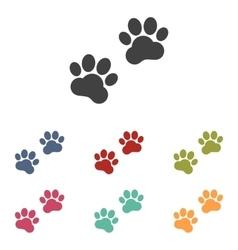Animal Tracks icons set vector image