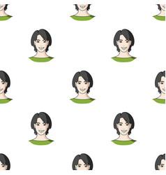 Avatar girl with short hairavatar and face single vector