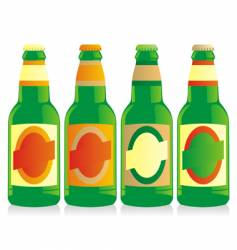 beer bottles set vector image vector image
