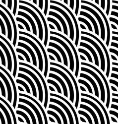 Black and white curved lines in a seamless pattern vector image vector image