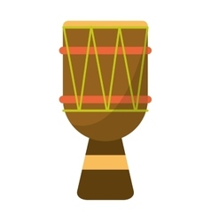 brasilian drum percussion bongo vector image