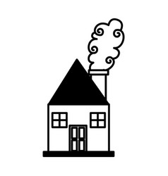 cute house drawing icon vector image