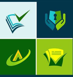 data secure document logos vector image