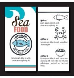delicious sea food isolated icon design vector image vector image