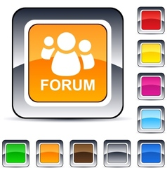 forum square button vector image vector image