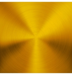 Gold Metal Background with Circular Texture vector image