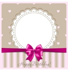 Happy birthday card with a bow vector image