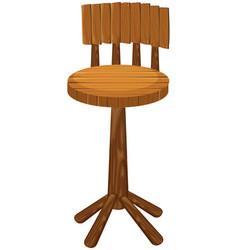 High chair made of wood vector