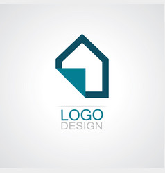 home paper icon logo vector image vector image