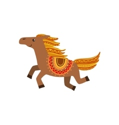 Horse wearing tribal clothing vector