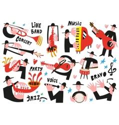 jazz musicians - vector image vector image