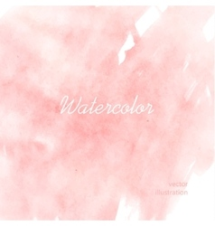 Light red watercolor vector image vector image
